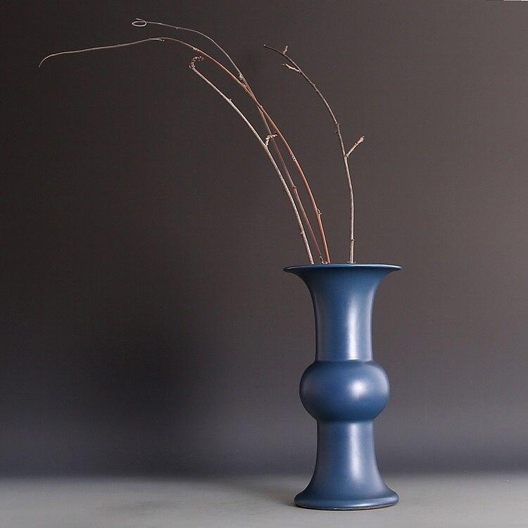 Chinese Antique Qing Dynasty Malachite Blue Palace Hua Gu vases-porcelain For Creative GiftsChinese Antique Qing Dynasty Malachite Blue Palace Hua Gu vases-porcelain For Creative Gifts