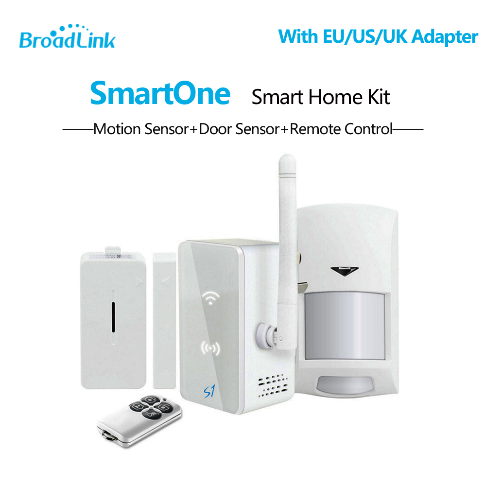 Broadlink S1 S1C SmartONE PIR Motion Door Sensor,Smart Home Automation Alarm & Security Kit Wifi Remote Control Via IOS Android