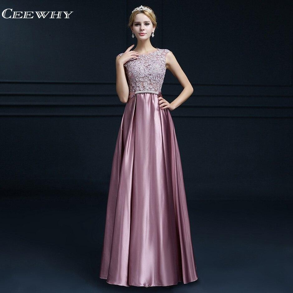 CEEWHY Open Back Applique Evening Dress Long Formal Dress Women Elegant Evening Gown Bestidos Azul Marino Robe Longue Abiye