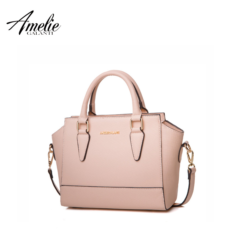 AMELIE GALANTI Autumn and Winter Newest Ladies handbag fashion Trapeze Shape solid high  ...