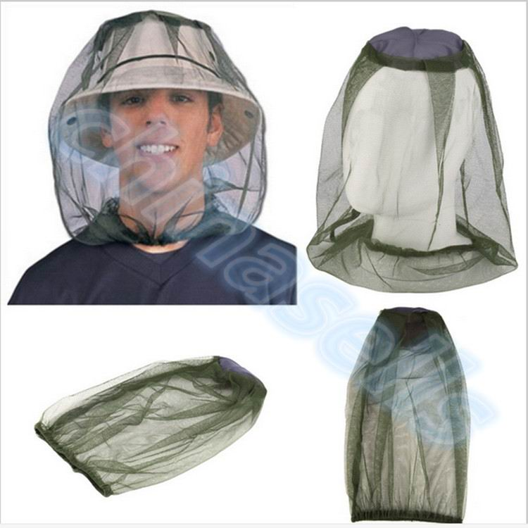 50pcs Insect Hat Bug Bee Mesh Head Net Face Protector For Men Portable Travel Kits Camping Outdoor Jungle Adventure muñeco buffon