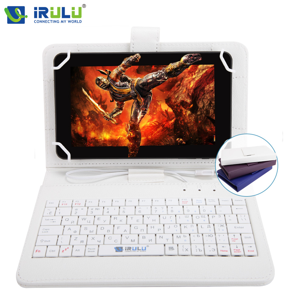 ФОТО iRULU eXpro X4 7'' Android 5.1 1280*800 IPS Quad Core Tablet 1G+16G Dual Cameras Tablet PC Bluetooth WiFi 4000mAh w/RU Keyboard