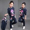 Las muchachas Que Arropan Otoño Invierno Chaleco Niñas Ocasionales + Pantalones Del Juego Del Deporte Ropa de Los Niños Traje de La Muchacha