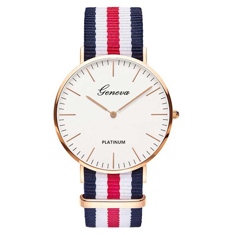 Hot Ultra Slim Quartz Watch Simple Nylon Band Relogio Masculino Fashion Woman Men Wristwatches 5 Styles