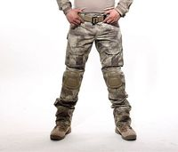 Free Shipping Militar Tactical Army Military Uniform Pants Multicam Camouflage Combat Cargo Pants With Knee Pads