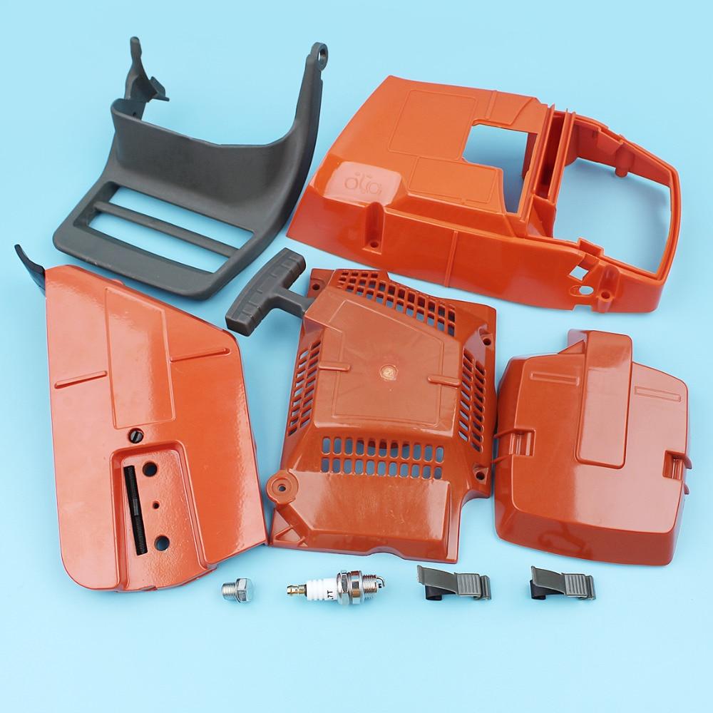 Chainsaw Top Engine Air Filter Sprocket Cover Recoil Starter Guard For Husqvarna 362 365 371 372 Handle Holder Spark Plug Bushin