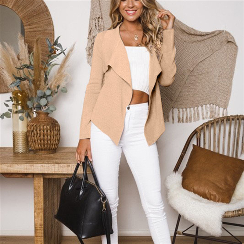 Bigsweety Luxury Runway   Jackets   Women Coats Long Sleeve Irregular Female Grey   Jacket   Loose Ladies   Basic   Coat Slim Outerwear