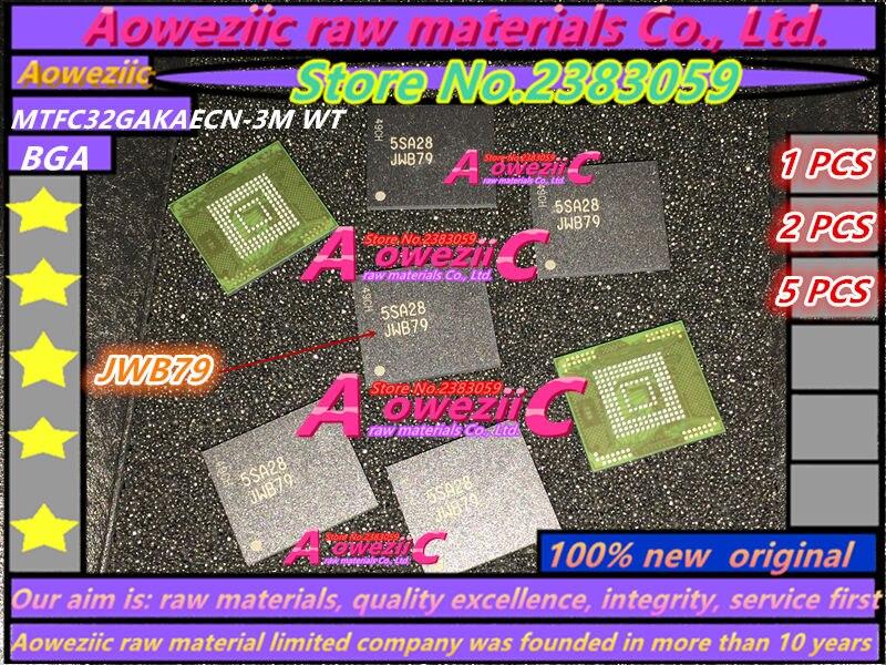 Aoweziic 100%new original MTFC32GAKAECN-3M MTFC32GAKAECN JWB79 BGA memory chip 1pcs 2pcs 5pcs 10pcs 100% new original sdin7du2 8g bga memory chip