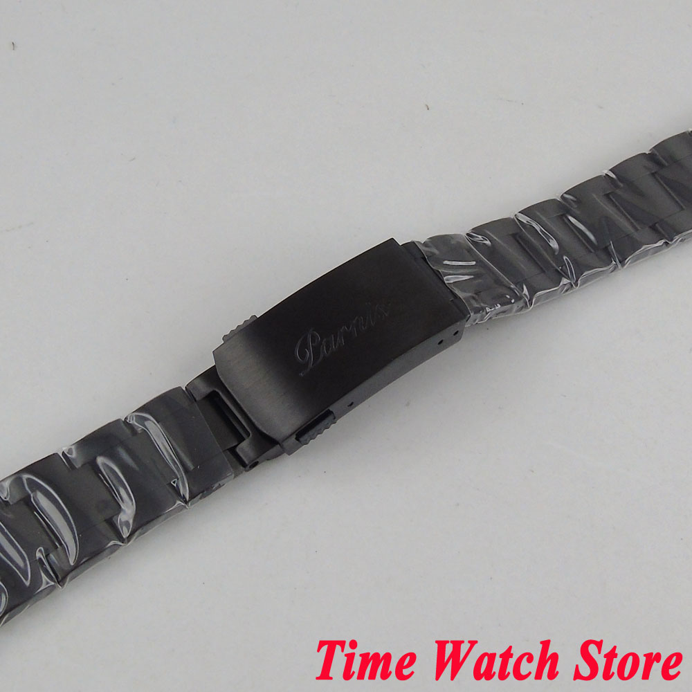 PARNIS 20mm width PVD coated 316L stainless steel watch band watch strap bracelet Fit 40mm SUB