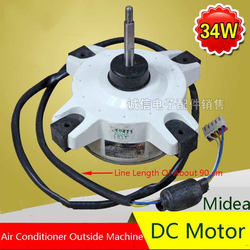 New Original For Midea 34W Air Conditioning Fan DC Motor Air Conditioning Parts 95% new original for midea air conditioning fan motor ydk36 4c a ydk36 4g 8 4g 8 36w direction of departure