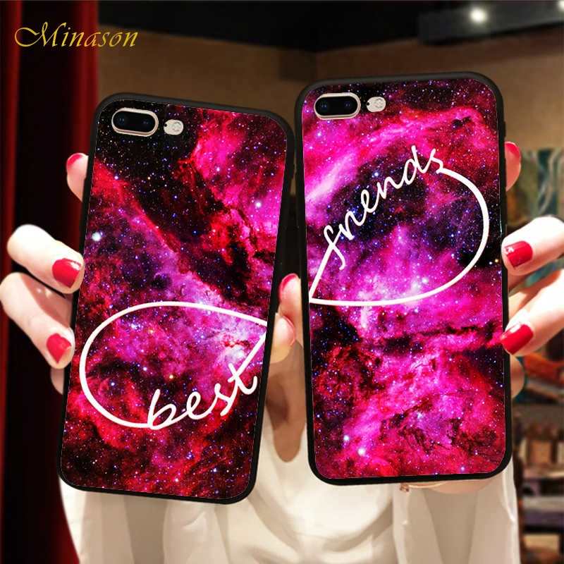 Minason Space Infinity <font><b>BFF</b></font> <font><b>Case</b></font> Cover For <font><b>iPhone</b></font> X 8 11 Pro 5 XR XS Max 6 6S 7 Plus Best Friend Forever <font><b>Case</b></font> Capinha de Celular image