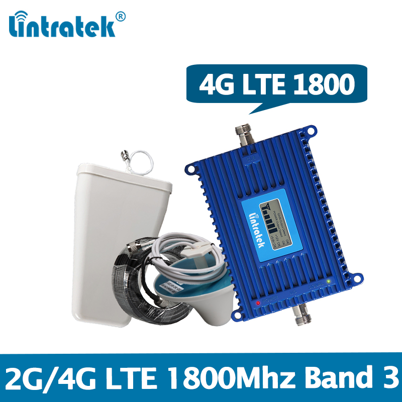 Lintratek 4G Repeater 1800Mhz 4G Booster LTE 1800 Amplifier Band 3 Signal Booster AGC 70dB DCS Repeater 2G/4G 1800 HIGH GAIN @6-in Signal Boosters from Cellphones & Telecommunications
