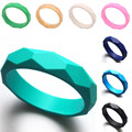 Silicone Newborn Baby Teether Teething Bangle PBA Free Tooth Training Chewable Food Grade Safe Bracelets