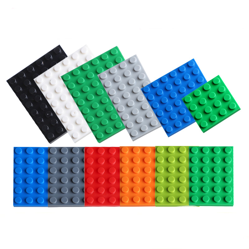 x4 NEW Lego Green Plates 4x4 Brick Building Green Baseplates