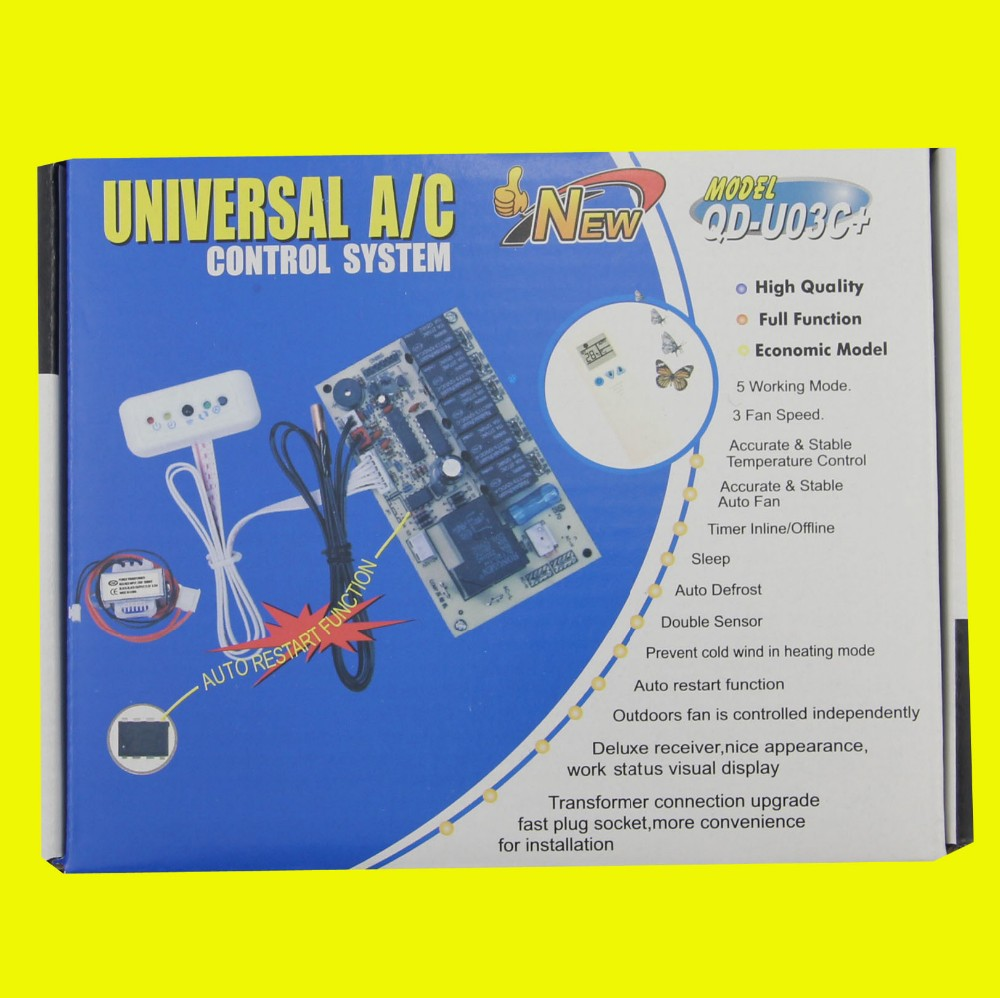 hight resolution of for all universal air conditioner control system board qd u03c universal remote control air conditoner a c control system board