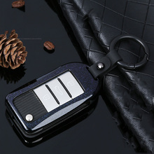 цена на 2019 Zinc Alloy Classic Car Key Case Cover For Roewe RX5 2017 year for MG ZS 3 button Auto Key Protection Shell keychain