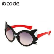 72667f7d825 Iboode historieta Linda gafas de sol para niños gato forma encantadora bebé  niños gafas de sol
