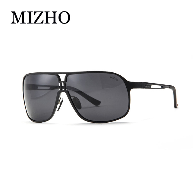 MIZHO Brand Day Use Fishing Big BOX HD Polaroid UVA Enjoy Comfortable Vision Aluminium Sunglasses Men Polarized COOL