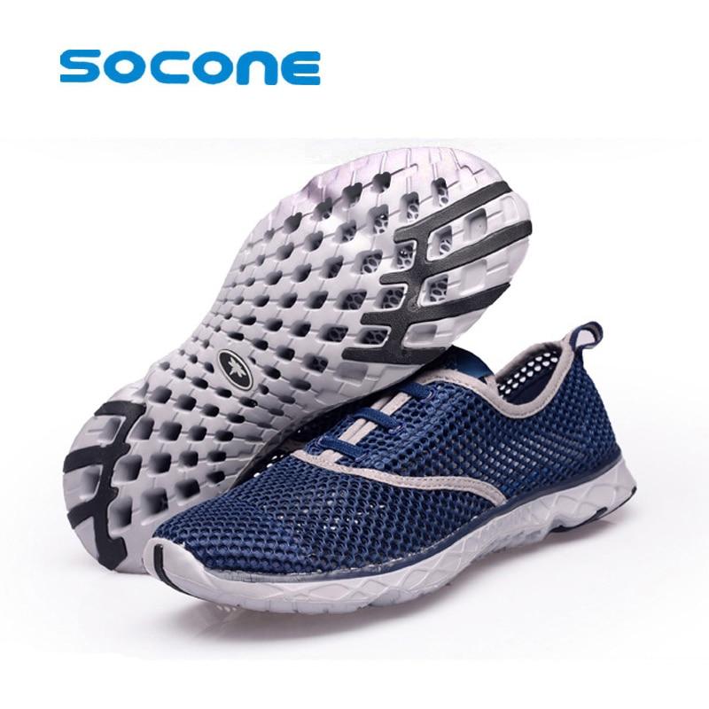SOCONE merek Sapatos Respiravel Corrida Leve de Corrida dos homens Calcados Esportivos Calcados de Sola de EVA Macio