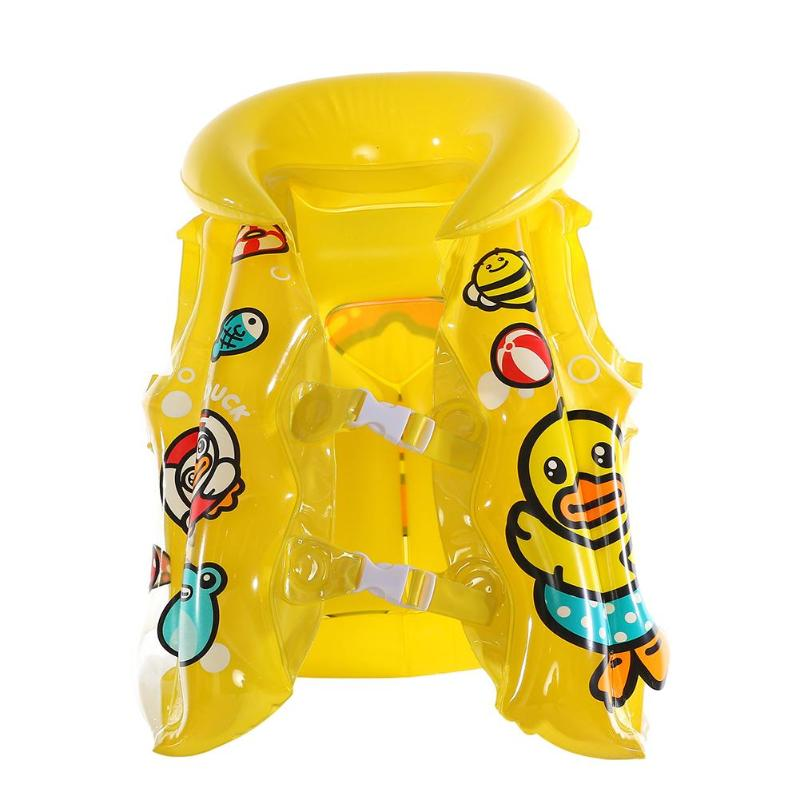 1-5T Baby Kids Swimming Life Vest Cartoon PVC Inflatable Float Safe Jackets Swimsuit float Piscine Swimming Pool Accessory