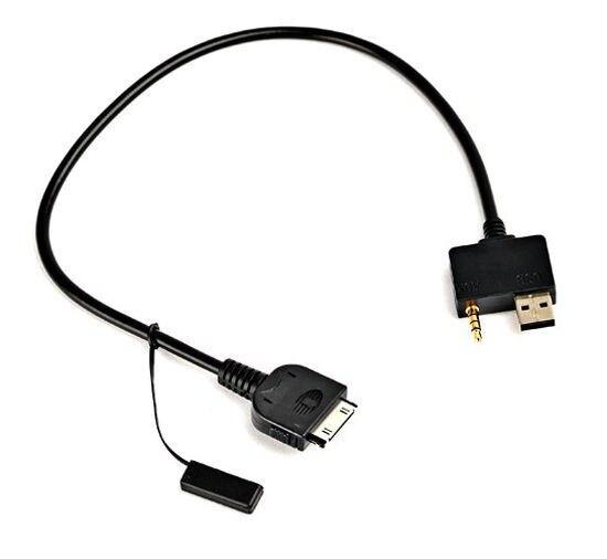 3.5mm Entrée Voiture AUX Audio Câble Adaptateur + USB Interface D'entrée câble pour Hyundai Kia Pour iPhone 4 4S iPod Nano iTouch
