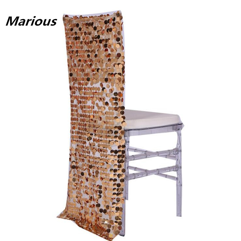 2017 New Product 25pcs Sequin wedding chair hood decoration FOR WEDDING PATRY wedding supplier FREE SHIPPING Marious
