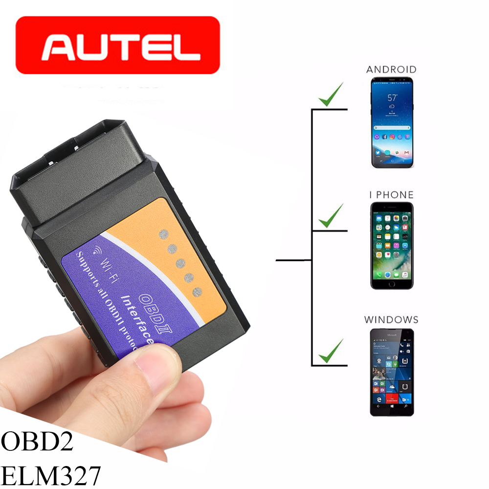 ELM327 V1.5 Wifi Bluetooth OBD2 Scanner OBD OBD 2 Bluetooth Adapter Scanner Automotivo elm327 wifi dijagnostic auto pic18f25k80