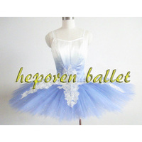 High Quality Custom Made Gradient Blue Bird Ballet Dress With Leotard Girl Ballet Clothing Swan Lake