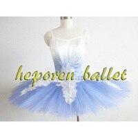 High Quality Custom Made Gradient Blue Bird Ballet Dress With Leotard,Girl Ballet clothing Swan Lake Ballet Costumes Snow White