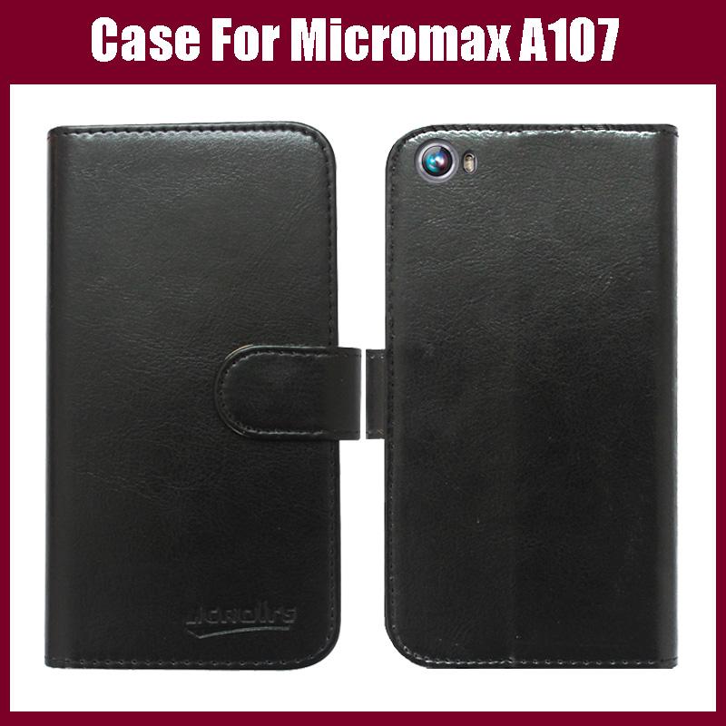 Micromax A107 Case High Quality Flip Leather case for Micromax Canvas Fire 4 A107 Cover 6 Colors Free Shipping