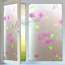 Plum blossom Opaque glass Sticker stained Privacy Window furniture film Self-adhesive Waterproof christmas stickers 45*500cm