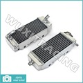 L/R New Aluminium Cores MX Offroad Motorcycle Radiators Cooling X2 fit for Kawasaki KXF250 KX250F 04 05