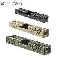 Spor ve Eğlence'ten Avcılık Silah Aksesuarları'de Savunma taktik cilt için slayt kapak Glock 17/22/31/37 av silahı aksesuarları