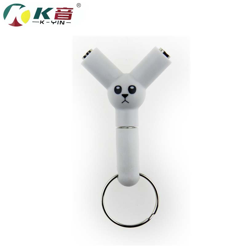 Innovation panda Couple 3.5mm Y-type 1 in 2 audio line Earbud Headset Headphone Earphone Splitter For smartphone MP3 MP4