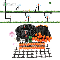 MUCIAKIE 25M DIY zestaw do nawadniania kropelkowego z regulowanym kroplomierzem automatyczny kontroler do szklarni ogrodowej w Zestawy do podlewania od Dom i ogród na