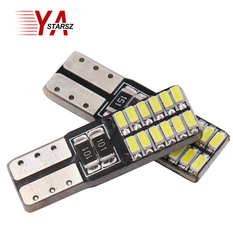 New 1pcs Car Auto LED canbus W5W t10 led 24smd 4014 LED Interior Light Parking Light External Light Car led reading lamp 1pc new parking hid white canbus t10 w5w
