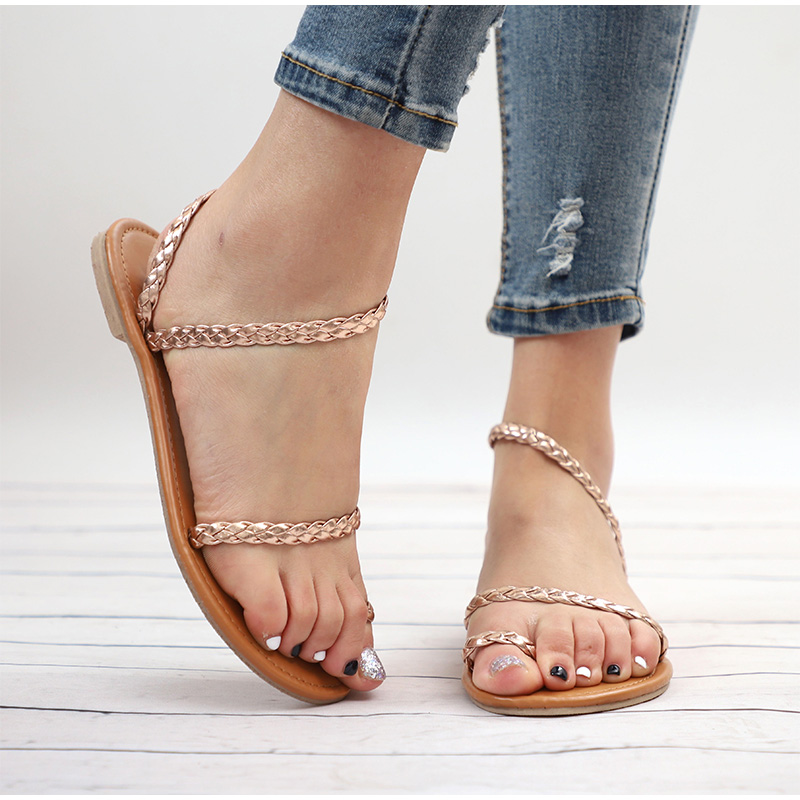 HTB16kkMMrrpK1RjSZTEq6AWAVXa9 MCCKLE Plus Size Thong Sandals Summer Women Flip Flops Weaving Casual Beach Flat With Shoes Rome Style Female Sandal Low Heels