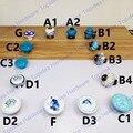 Único furo Série Azul da cópia da flor de Cerâmica botão Cozinha Móveis knob gaveta puxador knob