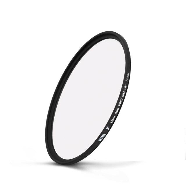 NiSi filtro Ultra delgado MCUV filtro protector de lente 82 49 46 43 55 52 58 62 67 62 77mm para nikon Canon Sony accesorios de lente