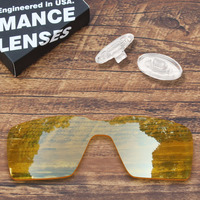 ToughAsNails Resist Seawater Corrosion Clear Yellow Replacement Lens and Clear Nose Pads for Oakley Probation