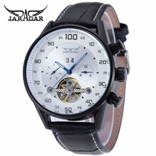 JARAGAR Top Sale Mens Luxury Leather Strap Watches Date Week 24hour display Multifunction Dial Male Automatic Clock Montre Homme