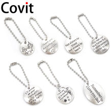 Covit Jewelry Drive Safe I Need You Here With Me Couples Key Ring Engraved Keychain Letters Pendant Husband Dad Boyfriend Gift(China)
