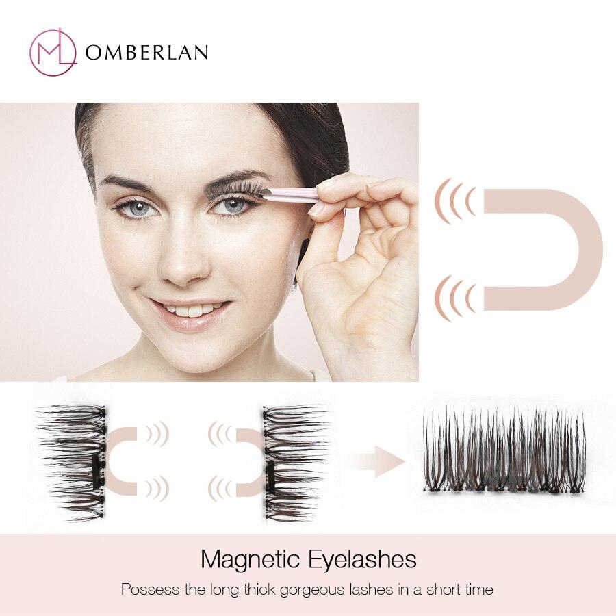 Magnetic Eyelashes on Magnet False Magneticos Cilia Natural Eyelash Long Magnet Reusable Makeup Lash for Building Extension