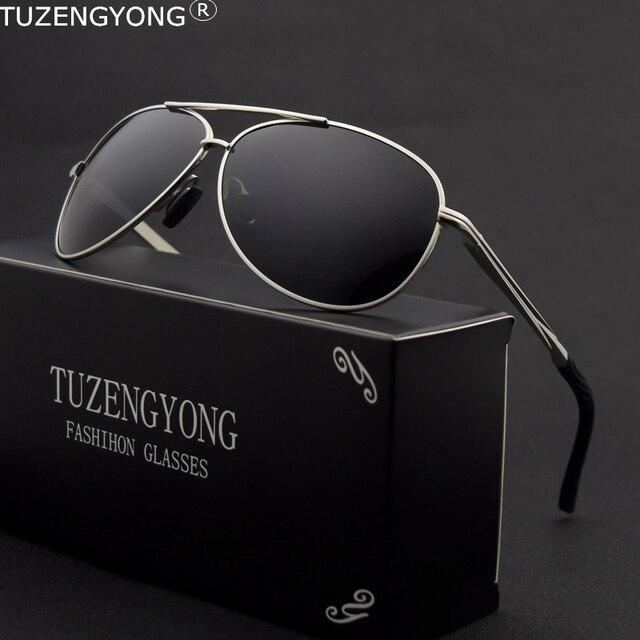 e64d276ba 2019 Marca De Luxo Polarizada Óculos De Sol Dos Homens Novo Piloto Da Moda  dos homens Óculos de Sol Masculino Óculos de Condução óculos Anti-Reflexo  oculos