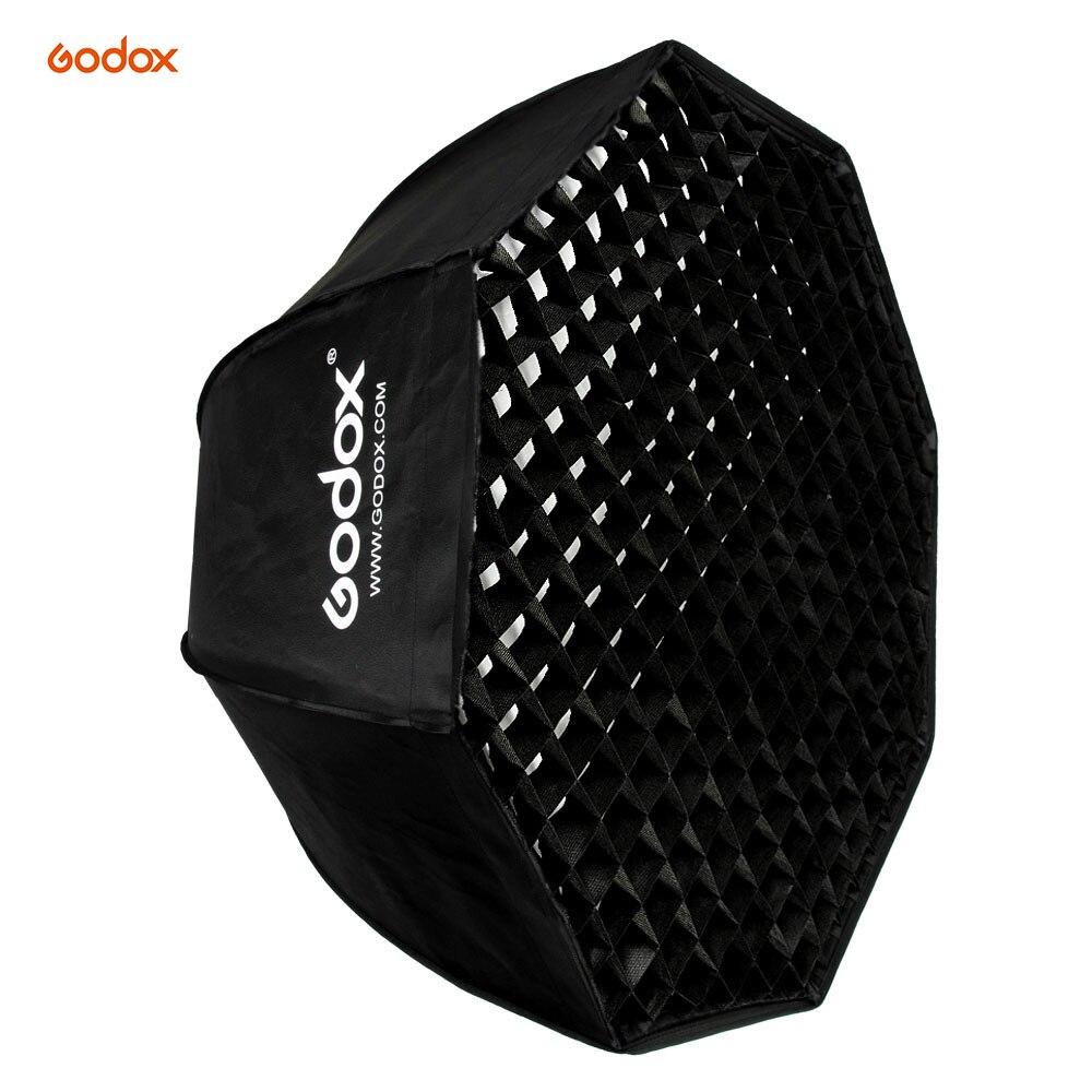 Godox SB-UE 80 cm/31.5in Bowens Mont Portable En Nid D'abeille Octogone Grille Parapluie Softbox pour Speedlite Flash Light