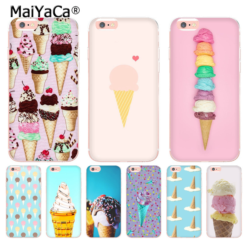 MaiYaCa enjoy summer icecream Top Detailed Popular Phone case for Apple iPhone 8 7 6 6S Plus X 5 5S SE 5C 4 4S Cover