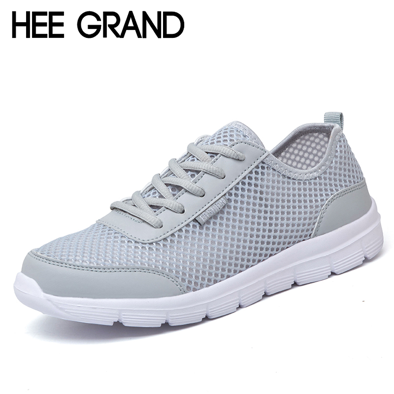 HEE GRAND Lovers Men Shoes Summer Lace Up Comfort Unisex Casual Shoes Man Breathable Mesh Light Flats Size Plus 35-46 XMR2106 men shoes summer breathable lace up mesh casual shoes light comfort sport outdoor men flats cheap sale high quality krasovki