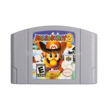 Nintendo N64 Игры Картридж Консоли Карты Mario Party 2 Английская Версия