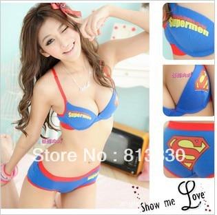 acbd27c6762 Free Shipping NEW Super Girl Ladies Sexy Lingerie underwear   Bras Women  Skirt superman Girl s HOT-in Bra   Brief Sets from Underwear   Sleepwears  on ...
