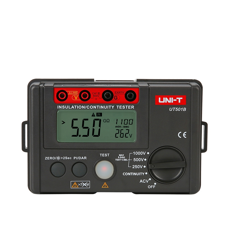 Uni T Ut501b 1000v Insulation Resistance Meter Ground Megohmmeter Voltmeter W Lcd Backlight Digital Earth Tester Megger uni t ut206a 1000a digital clamp meters earth ground megohmmeter multimeter voltage current resistance insulation tester